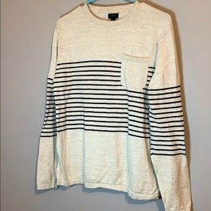 J. Crew striped sweater with front pocket